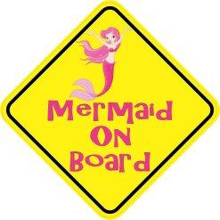 Mermaid On Board Sticker