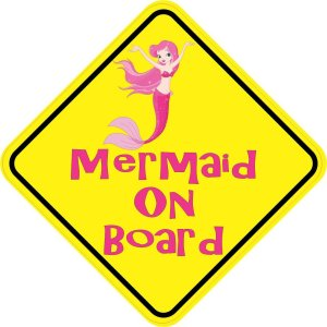 Mermaid On Board Sticker