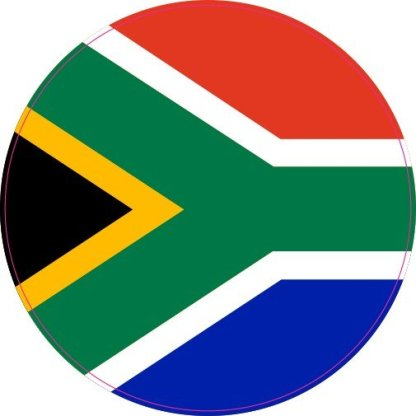 Circle South African Flag Sticker