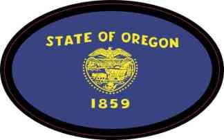 Oval Oregon Flag Sticker
