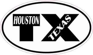 Oval TX Houston Texas Sticker