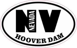 Oval NV Hoover Dam Sticker
