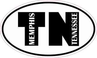 Oval TN Memphis Tennessee Sticker