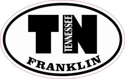 Oval TN Franklin Tennessee Sticker