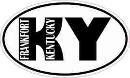 Oval KY Frankfort Kentucky Sticker