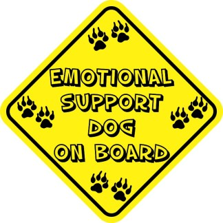 Emotional Support Dog On Board Magnet