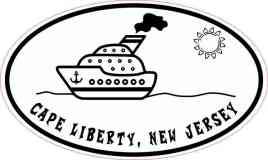 Cruise Ship Oval Cape Liberty Sticker