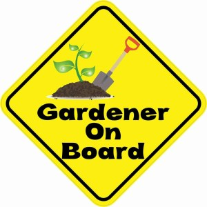 Gardener On Board Magnet