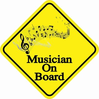 Musician On Board Magnet