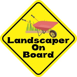 Landscaper On Board Magnet