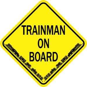 Trainman On Board Sticker