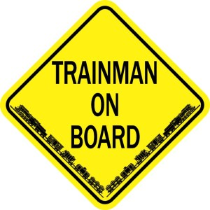 Trainman On Board Magnet