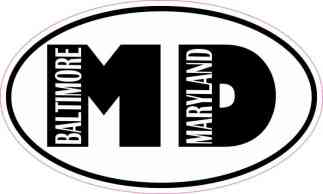 Oval MD Baltimore Maryland Sticker