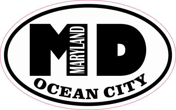 Oval MD Ocean City Maryland Sticker