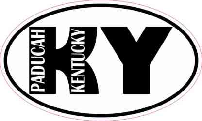Oval KY Paducah Kentucky Sticker