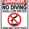 No Diving Shallow Water Magnet