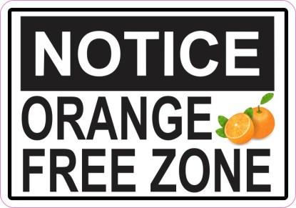 Orange Free Zone Magnet