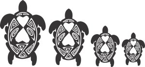Turtle Family Stickers