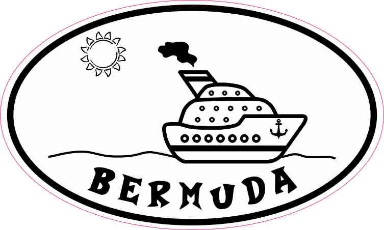 Cruise Ship Oval Bermuda Sticker
