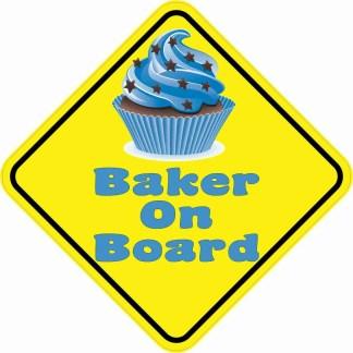 Baker On Board Magnet