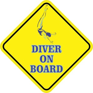Aquatic Diver On Board Magnet