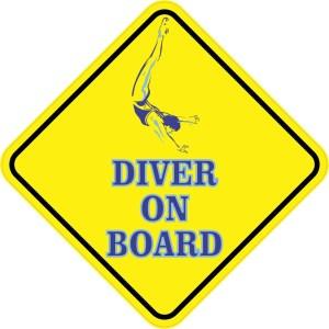 Aquatic Diver On Board Magnet