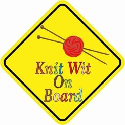 Knit Wit On Board Magnet