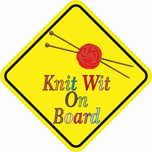 Knit Wit On Board Magnet
