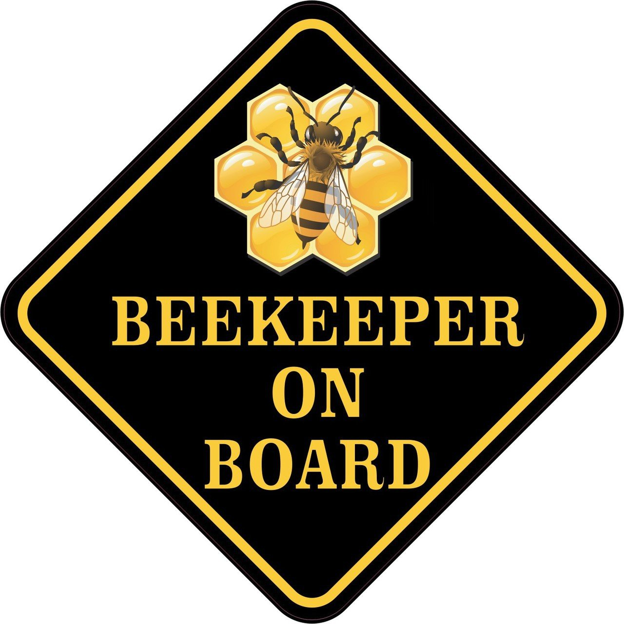 Beekeeper on Board Sticker