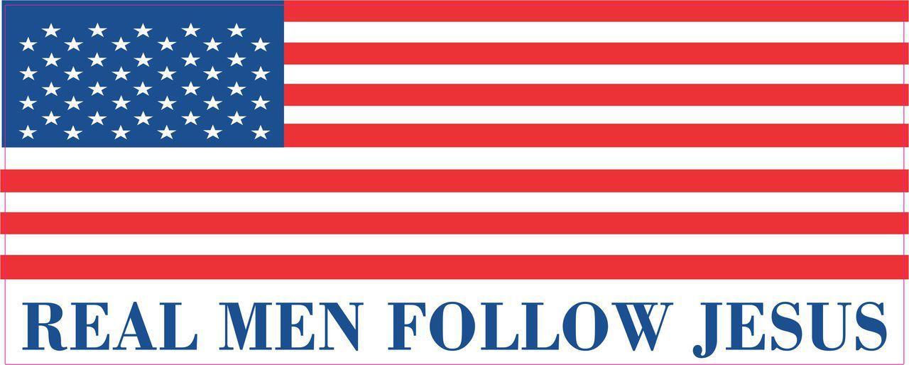 Real Men Follow Jesus Bumper Sticker
