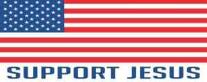 Support Jesus Bumper Sticker