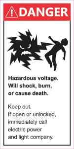 Danger Hazardous Voltage Magnet