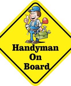 Handyman On Board Magnet
