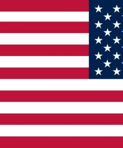 Mirrored Proportional American Flag Sticker