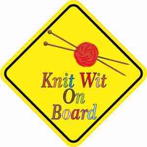 Knit Wit On Board Sticker