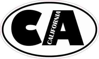 Oval CA California Sticker