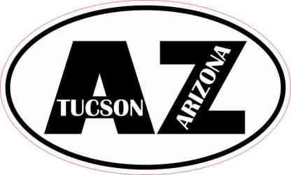 Oval AZ Tucson Arizona Sticker