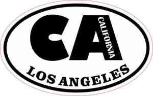 Oval CA Los Angeles California Sticker