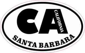 Oval CA Santa Barbara California Sticker