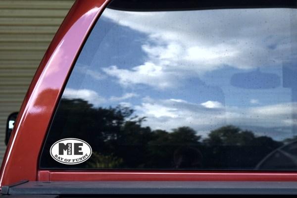 Oval ME Bay of Fundy Maine Sticker