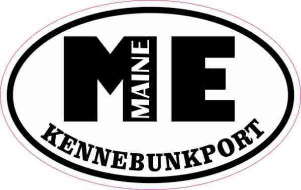 Oval ME Kennebunkport Maine Sticker