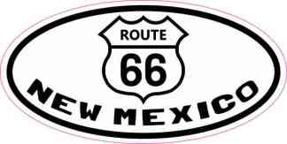 Oval Route 66 New Mexico Sticker
