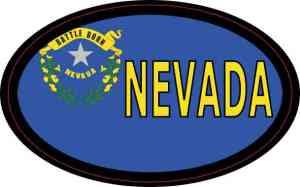 Flag Oval Nevada Sticker