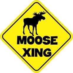 Moose Crossing Sticker