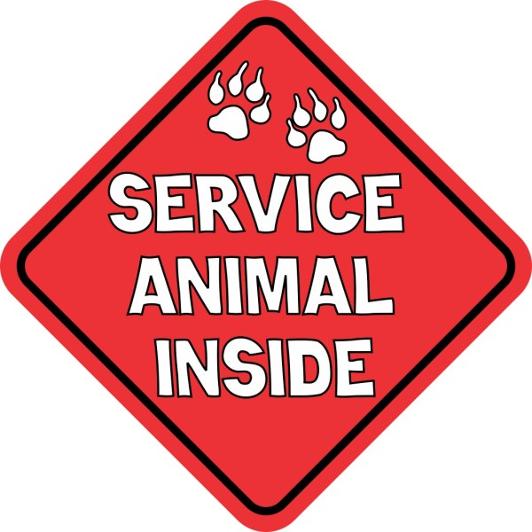 Service Animal Inside Sticker