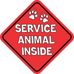 Service Animal Inside Magnet
