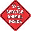 Service Animal Inside Magnet
