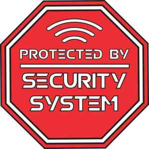 Protected By Security System Sticker