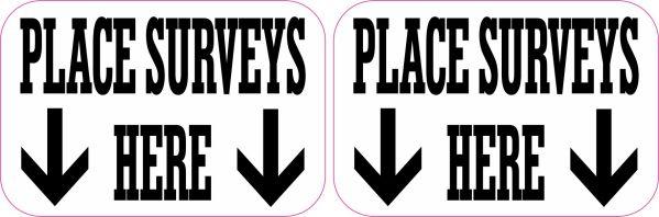 Place Surveys Here Stickers