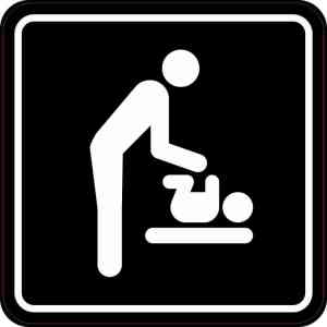 Men's Restroom Diaper Changing Station Magnet